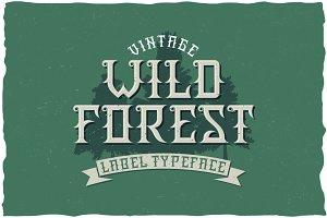WildForest Vintage Label Typeface