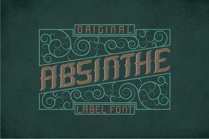 Absinthe Label Typeface