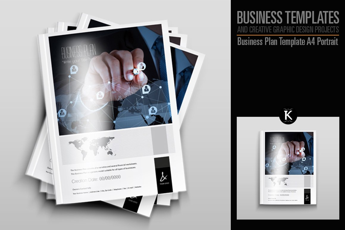 Business Plan Template - A4 Portrait ~ Templates ~ Creative Market