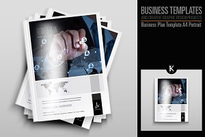 Business Plan Template - A4 Portrait