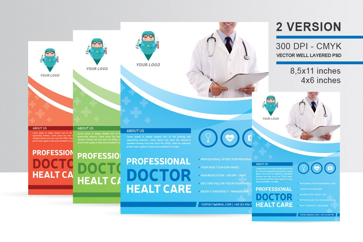 Professional Doctor Health Flyer Flyer Templates Creative Market