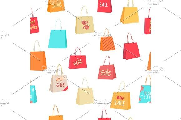 Sale Seamless Pattern Vector Illustration