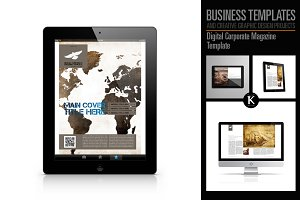 Digital Corporate Magazine Template