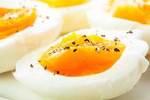 Fresh boiled eggs