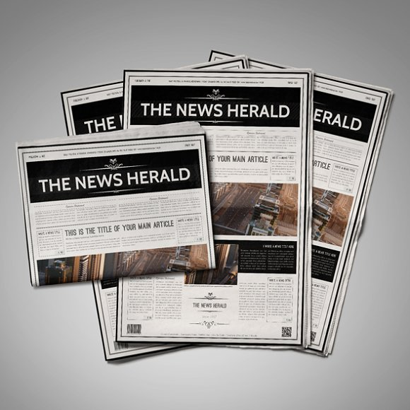 A3 Newspaper Template Templates Creative Market