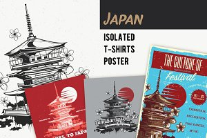 Japan T-shirts And Poster Labels