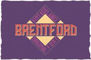 Brentford Vintage Label Typeface
