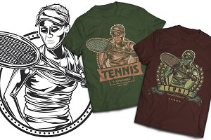 Tennis T-shirts And Poster Labels
