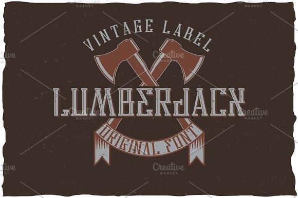 Lumberjack Vintage Label Typeface