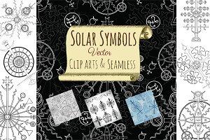 Solar mystic symbols