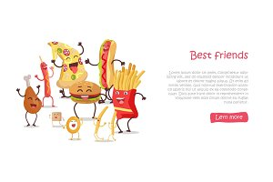 Best Friends, Food Banner