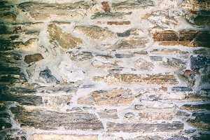 Uneven medieval stone wall