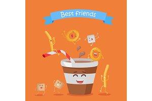 Best Friends, Food Banner