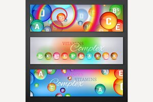Vitamins Complex Banners