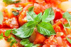 Pasta with tomato