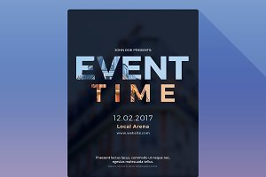 Event Time Photoshop Flyer Template