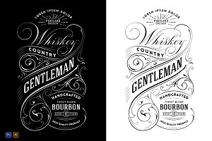 Whiskey Label Logo