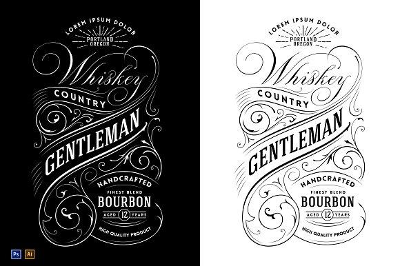 Whiskey Label Logo Templates Creative Market