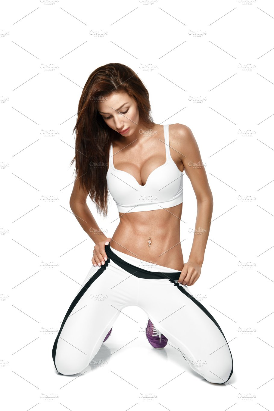 b4355222b4824 Fit and sporty beautiful woman with perfect shape ~ People Images ...