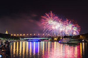 Fireworks festival in Moscow