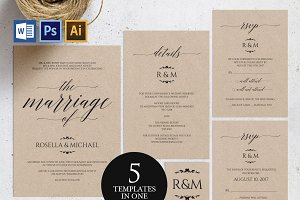 Wedding Invitation Template Wpc83