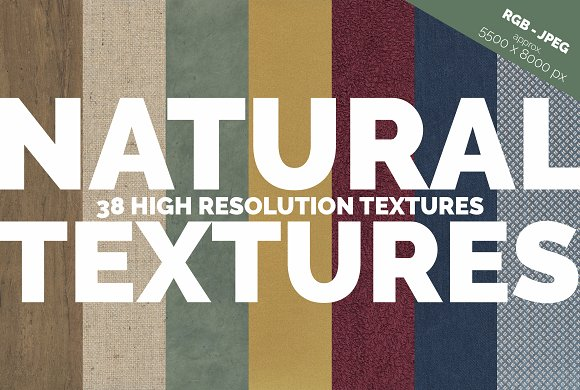 38 Natural Textures-Graphicriver中文最全的素材分享平台
