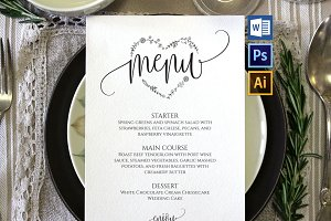 Wedding Menu Template Wpc85