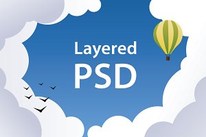 PSD - sky banners and backgrounds