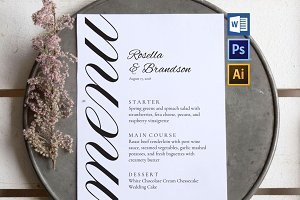 Wedding Menu Template SHR86