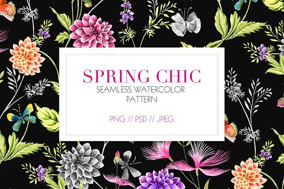 SPRING CHIC Watercolor Prints
