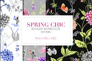 SPRING CHIC - Watercolor Prints
