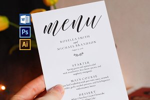 Wedding Menu Template Wpc88