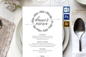 Wedding Menu Template SHR89