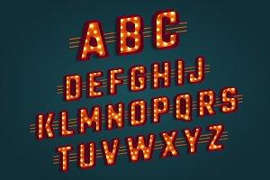 Retro 3D alphabet.