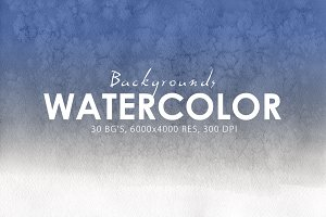 30 Watercolor Gradient Backgrounds