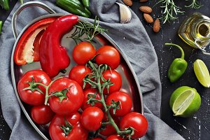 Mediterranean dinner table concept