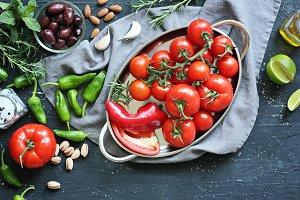 Mediterranean dinner table