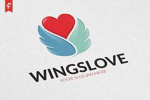 Wings Love Logo