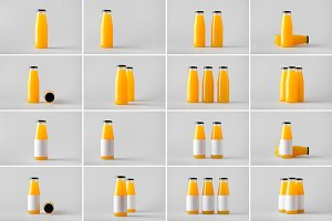 Juice Bottle Mock-Up Photo Bundle 2