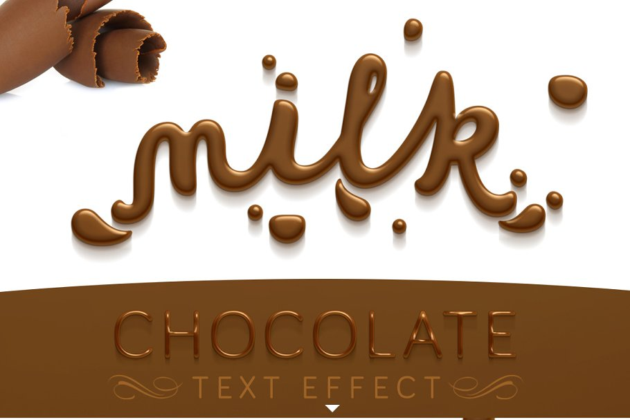 Chocolate text effect ~ Photoshop Add-Ons ~ Creative Market