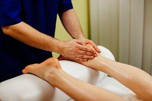 foot massage close up