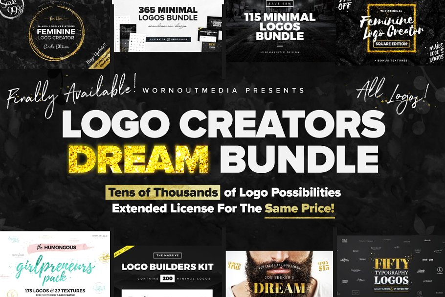 900dca6f04644 SALE! Logo Creators Dream Bundle ~ Logo Templates ~ Creative Market
