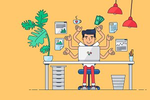 Creative Workspace Animation