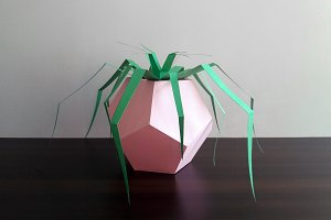 DIY Pentagon Planter -3d papercrafts