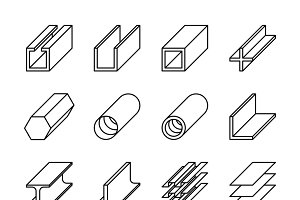 Rolled metal product icons