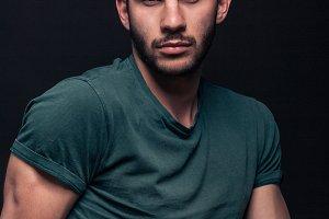 one man handsome portrait