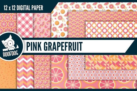 Pink Grapefruit Digital Paper