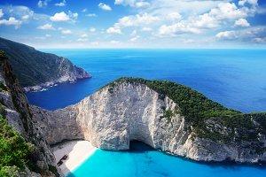 Beautiful lanscape of Zakinthos island
