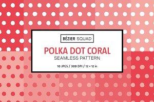 Polka Dot Coral Pattern