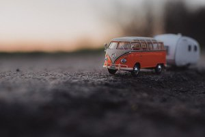 Vintage Model Cars in Nature